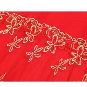 Avidlove Intimates & Sleepwear - Sexy Strap Babydoll Sheer Lingerie Set Red & Gold